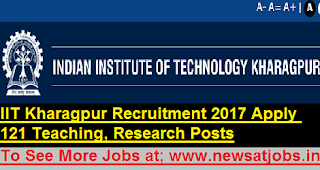 IIT-Kharagpur-121-Teaching-staff-Assistant -Recruitment