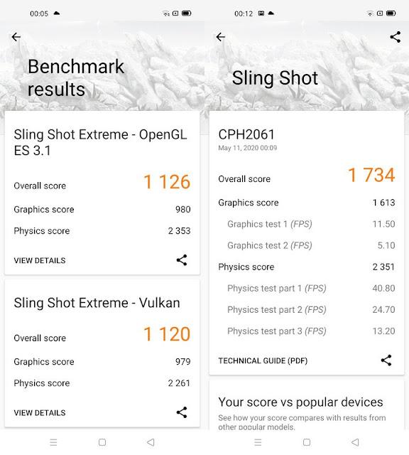 Benchmark 3DMark Oppo A52