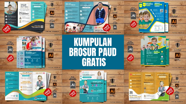 Free Brosur PAUD : Download Contoh Brosur PAUD Comp CorelDraw & Illustrator