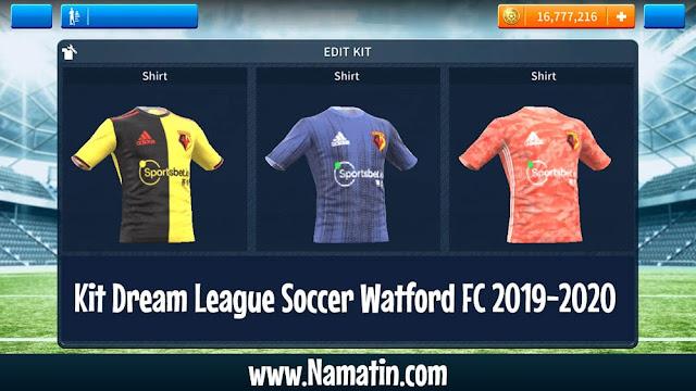 Kit Dream League Soccer Watford FC