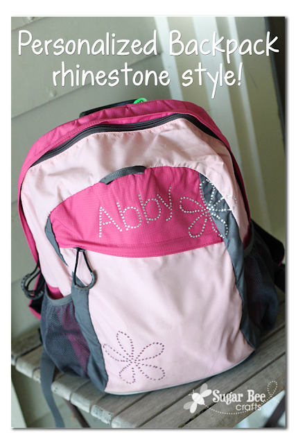 Silhouette, Rhinestones, non-apparel, Silhouette tutorial, backpack
