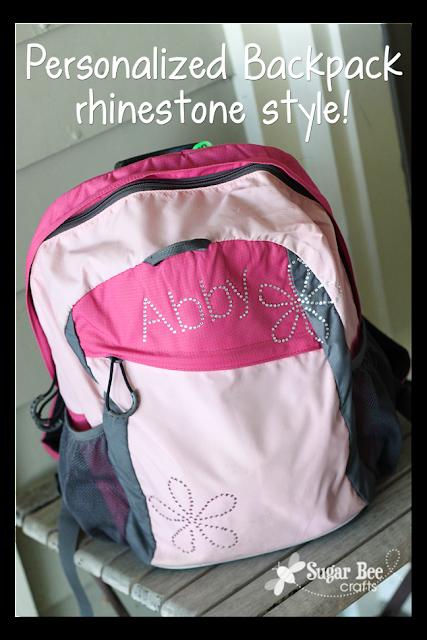 Silhouette, Rhinestones, non-apparel, Silhouette tutorial, backpack