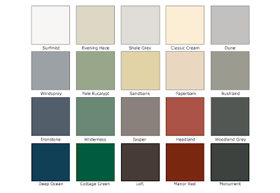 eight acres: choosing exterior paint colours for our secondhand house