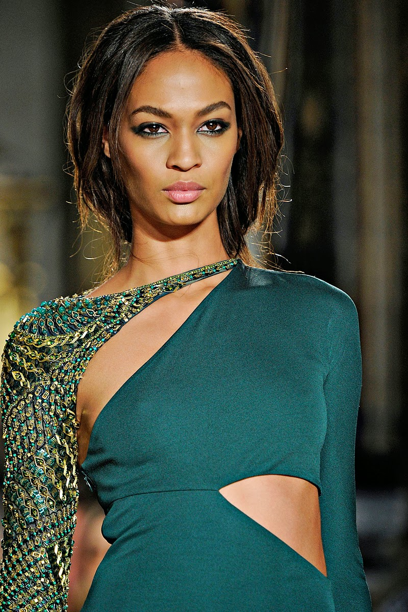 Joan Smalls At Topshop Fashion Show At London Fashion Week: Trendy Hairstyles: USA Well Famed Model Joan Smalls New