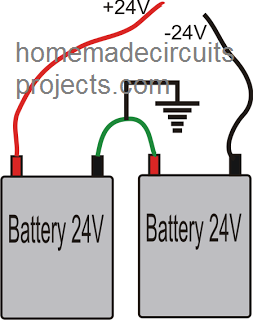 connecting two 24V batteries in series for getting 48V