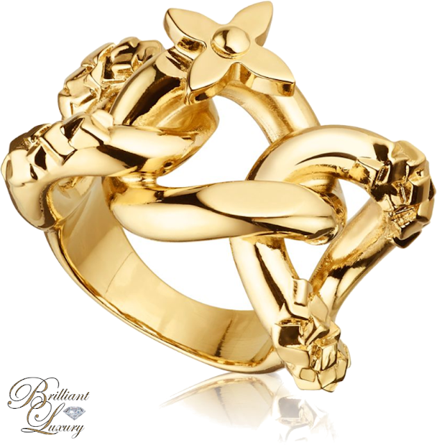 Brilliant Luxury ♦ Louis Vuitton Chain Ring