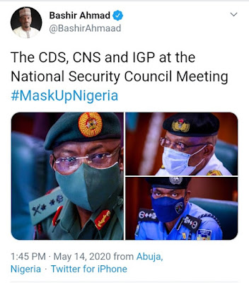 Buhari Meets Service Chiefs At Presidential Villa