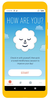 Screenshot of Stop Breathe & Think meditation app