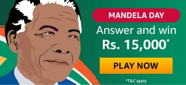 Amazon Mandela Day Quiz Answer