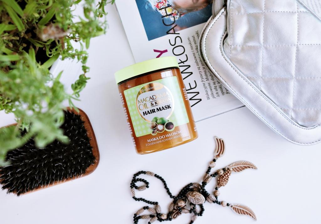 RECENZJA: Maska do włosów z olejem makadamia i keratyną / GLY SKIN CARE / SKLEP ONLINE DIAGNOSIS24.pl