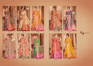 LT Fabric Ekanshi Weaving Saree catalog wholesale