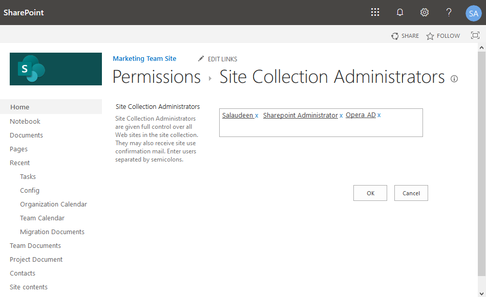 add security group to sharepoint online