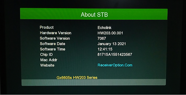 GX6605S HW203.00.001 NEW SOFTWARE WITH GREEN THEME