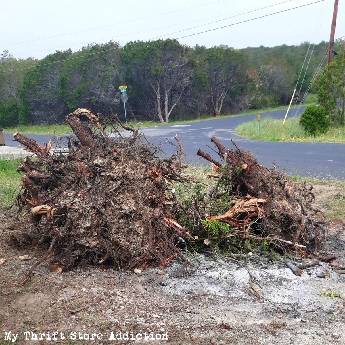 storm damage progress