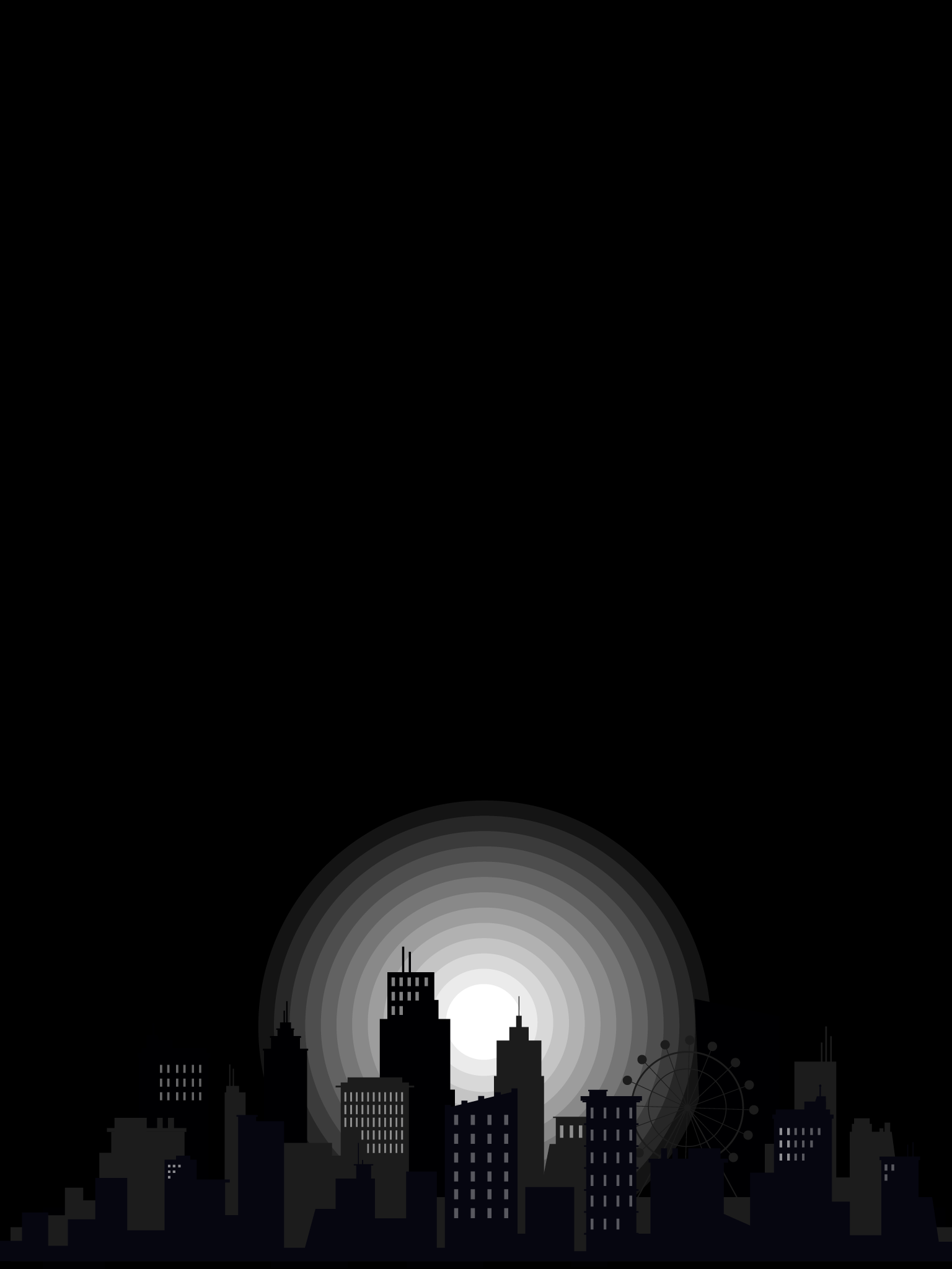 IPAD WALLPAPER city night BLACK