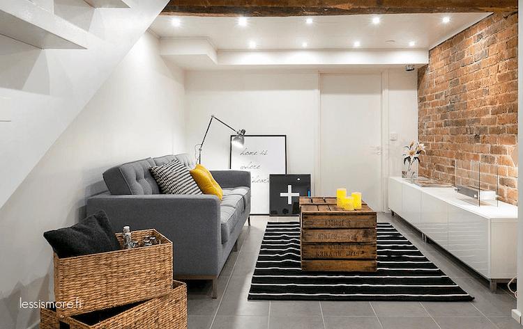 salón pequeño con decoración actual