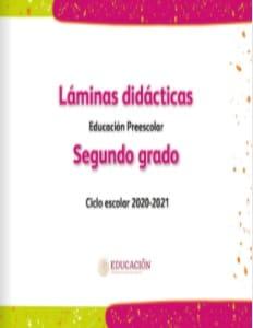 Láminas didácticas Segundo grado Preescolar 2020-2021