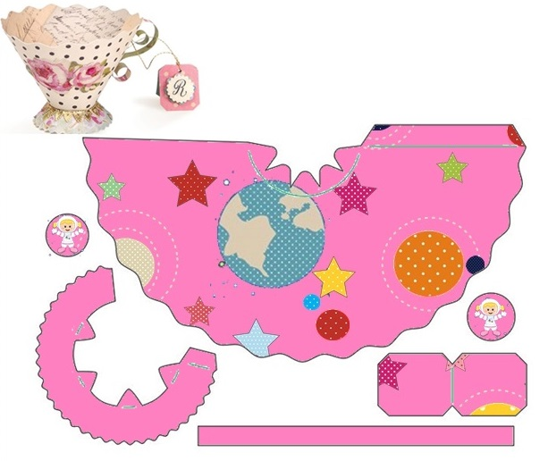 The Space in Pink: Free Printable Paper Cup.