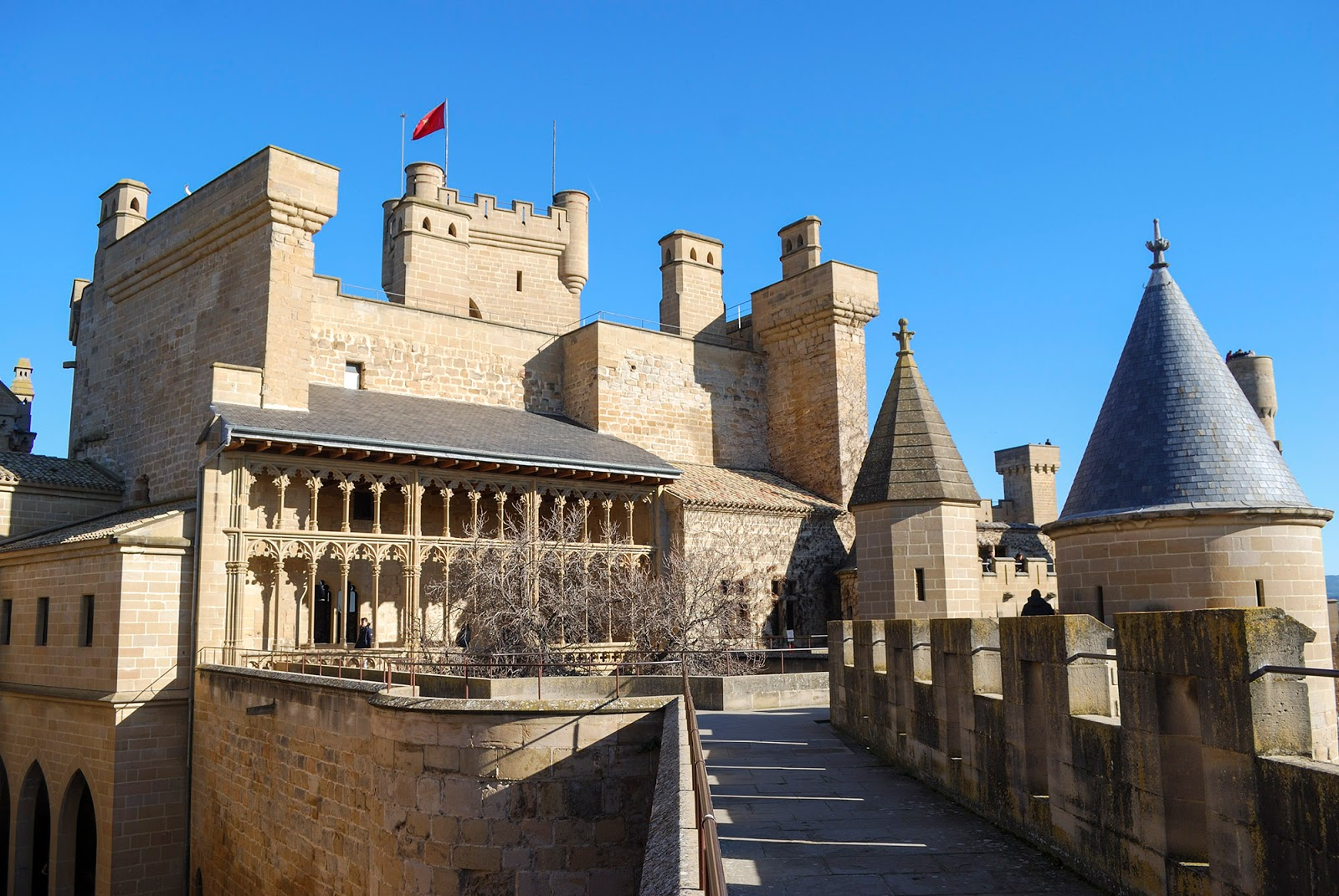 olite castle castillo navarra spain