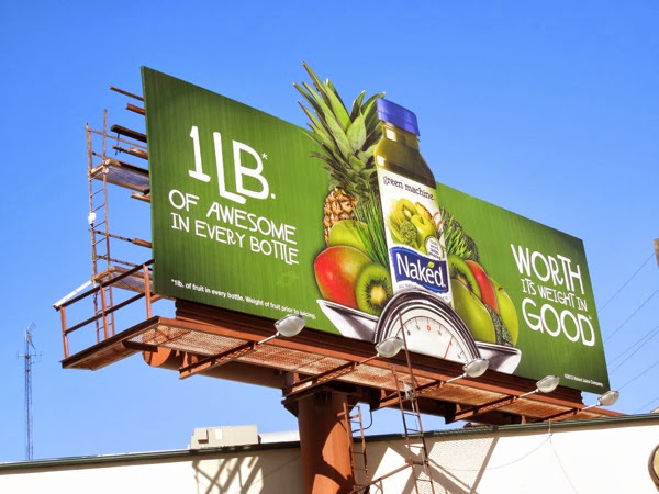 Naked Juice 1LB of awesome in every bottle billboard