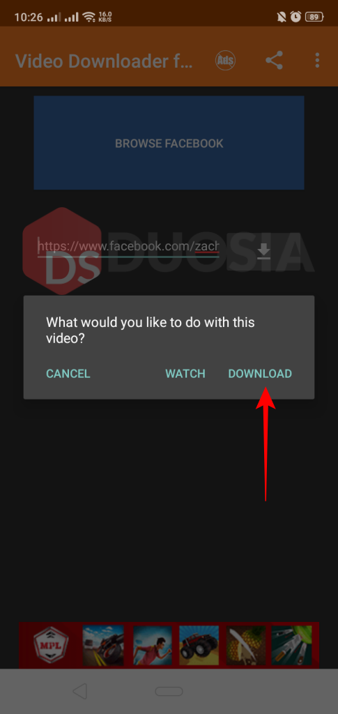 aplikasi video downloader facebook android