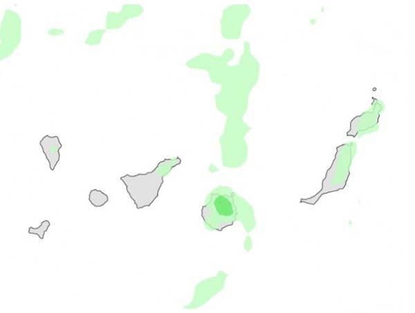 Lluvias en Canarias para fin de semana, 21 y 22 octubre