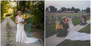 Γυναίκα φόρεσε το νυφικό της και πήγε στον τάφο του άντρα που θα παντρευόταν, αλλά πέθανε στο καθήκον