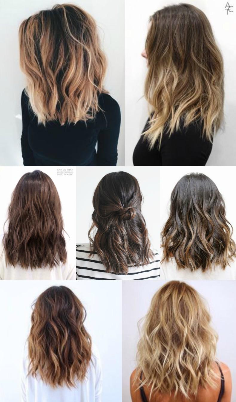 mid-length wavy hair
