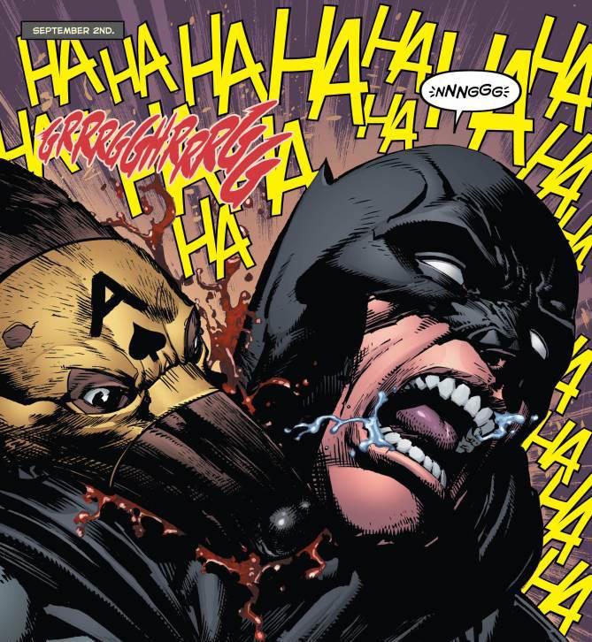 Batman Annual #1: Good Boy. Story: Tom King, Art: David Finch, Colors: Gabe Eltaeb, Letters: Deron Bennet. Batman created by Bob Kane and Bill Finger.