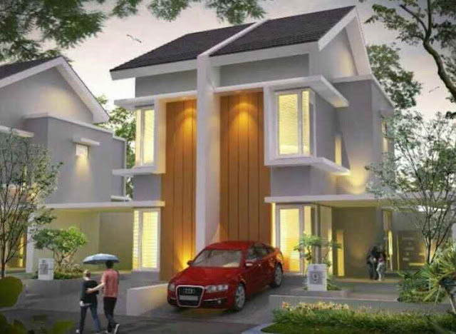 Contoh terbaru Model Rumah Minimalis 2 Lantai Tampak Depan MODERN