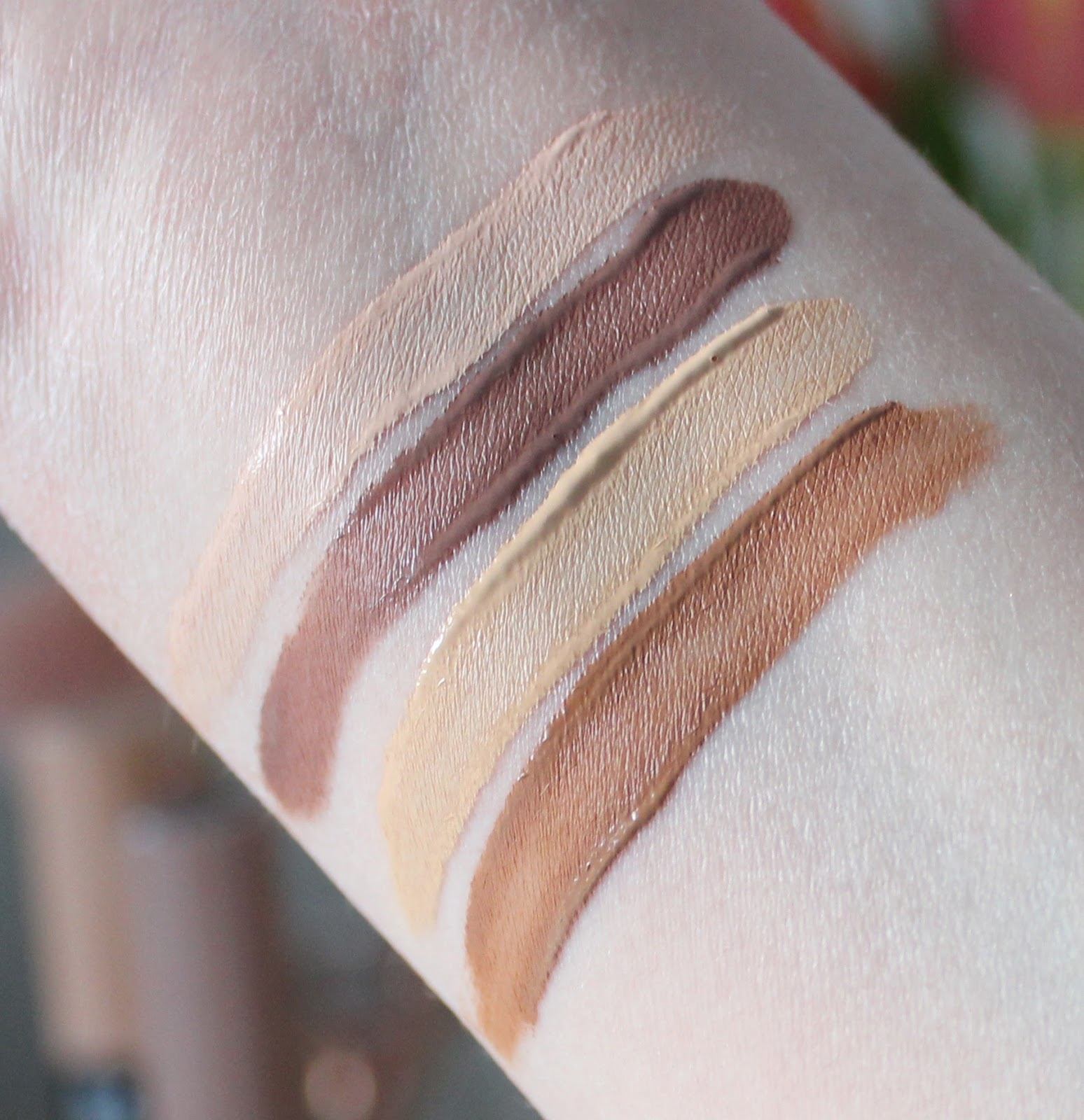 NYX sculpt and highlight sticks review and swatches shades one and two