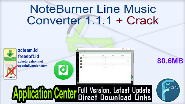 NoteBurner Line Music Converter 1.1.1 + Crack