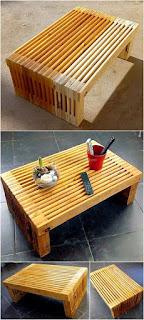 mesa original con palets de madera