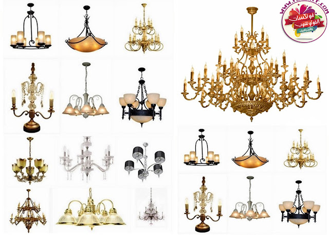Download image quality luxury chandeliers and decorative lights with transparent background