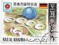 Selo Pavilhão da Alemanha na Expo 70