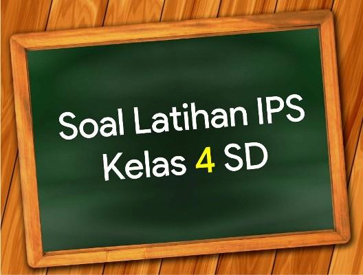 soal latihan IPS kelas 4 SD pada materi Peta