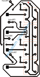 RC Remote Controlled Toy Car Circuit PCB Layout