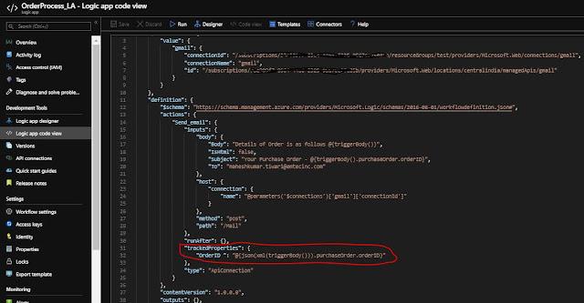 logic App code view