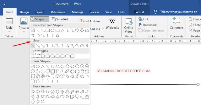 Cara Membuat garis Horizontal di MS Word