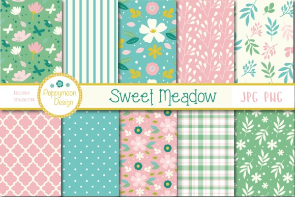 Sweet Meadow Papers Graphics Illustrations