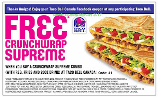 Taco Bell coupons february