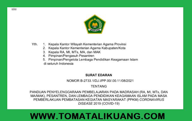 panduan pembelajaran madrasah pada masa ppkm covid-19 2021 pendis kemenag pdf tomatalikuang.com