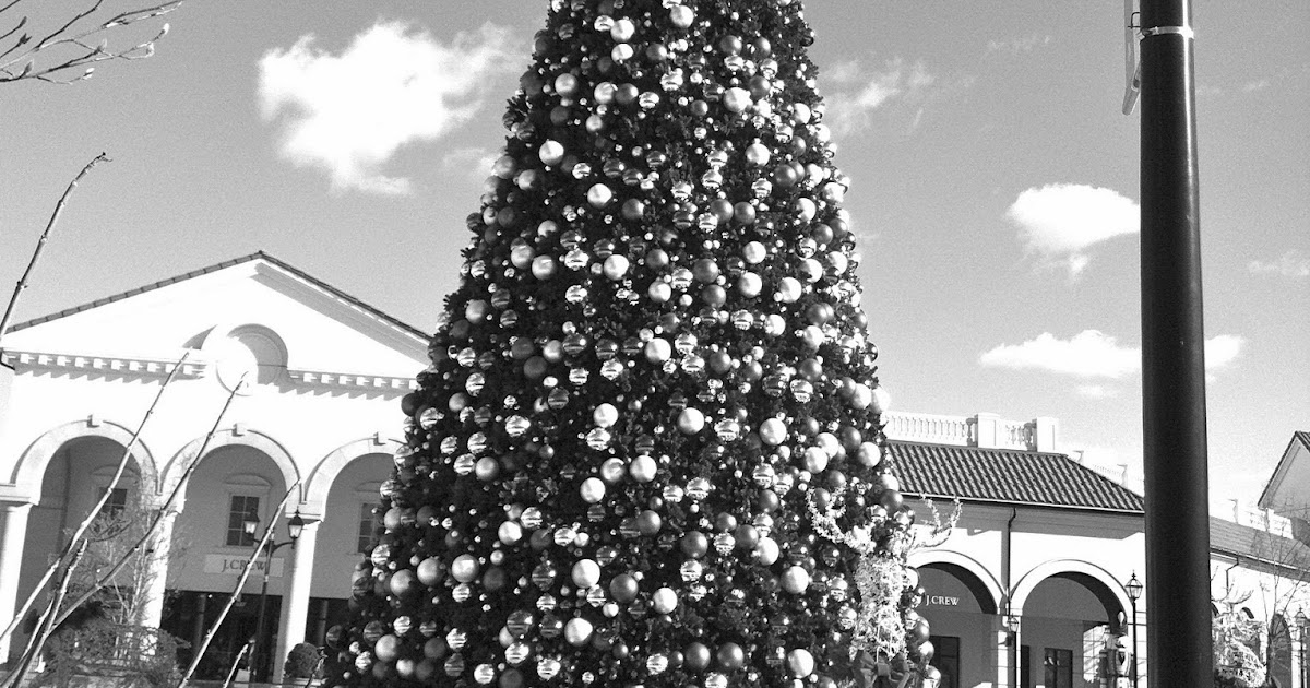 A Black And White Christmas Tree