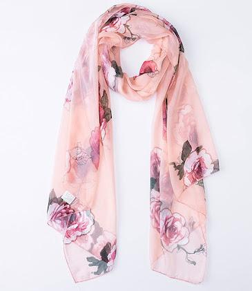 Floral Print Chiffon Scarves