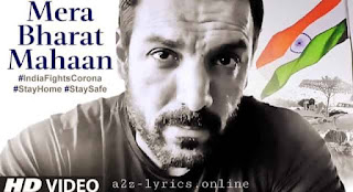 MERA BHARAT MAHAAN LYRICS IN HINDI | JOHN ABRAHAM