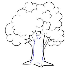 رسم شجرة للاطفال والمبتدئين خطوة بخطوة سهلة بالقلم الرصاص بالصور