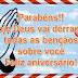 Mensagem de Aniversário  Hoje Deus vai Derramar Bençãos