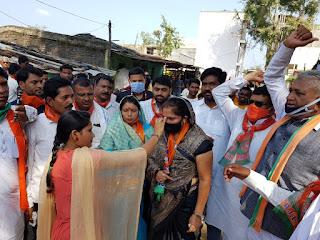 भाजपा ने खकनार से शुरू किया जनसंपर्क
