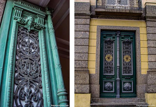 Detalhes das portas do Solar da Quinta da Boa Vista