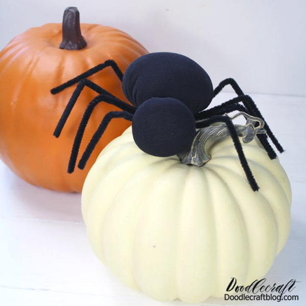 Make a darling spider for the perfect Halloween decoration. This is a hand sewing project and perfect for beginners. This is how I learned to hand sew when I was about 7 years old. How to hand sew a spider for Halloween decor with Poly-Fil.